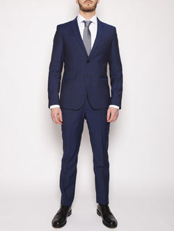 MANUEL RITZ-MANUEL RITZ - Abito slim fit in fresco lana NAVY-TRYME Shop