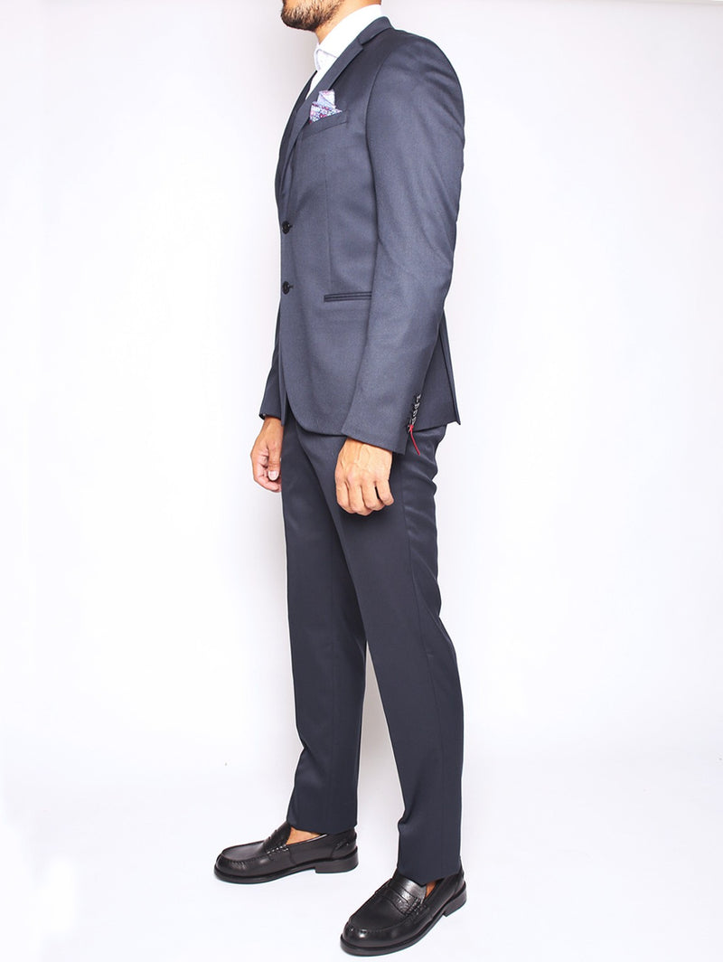 MANUEL RITZ - ABITO SLIM FIT IN TECHNO TWILL STRETCH NAVY-Completi-Manuel Ritz-TRYME Shop