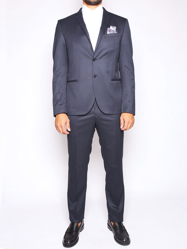 MANUEL RITZ-MANUEL RITZ - ABITO SLIM FIT IN TECHNO TWILL STRETCH NAVY-TRYME Shop