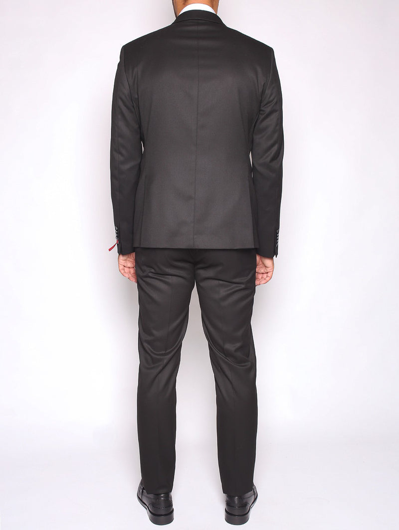 MANUEL RITZ - ABITO SLIM FIT IN TECHNO TWILL STRETCH NERO-Completi-Manuel Ritz-TRYME Shop