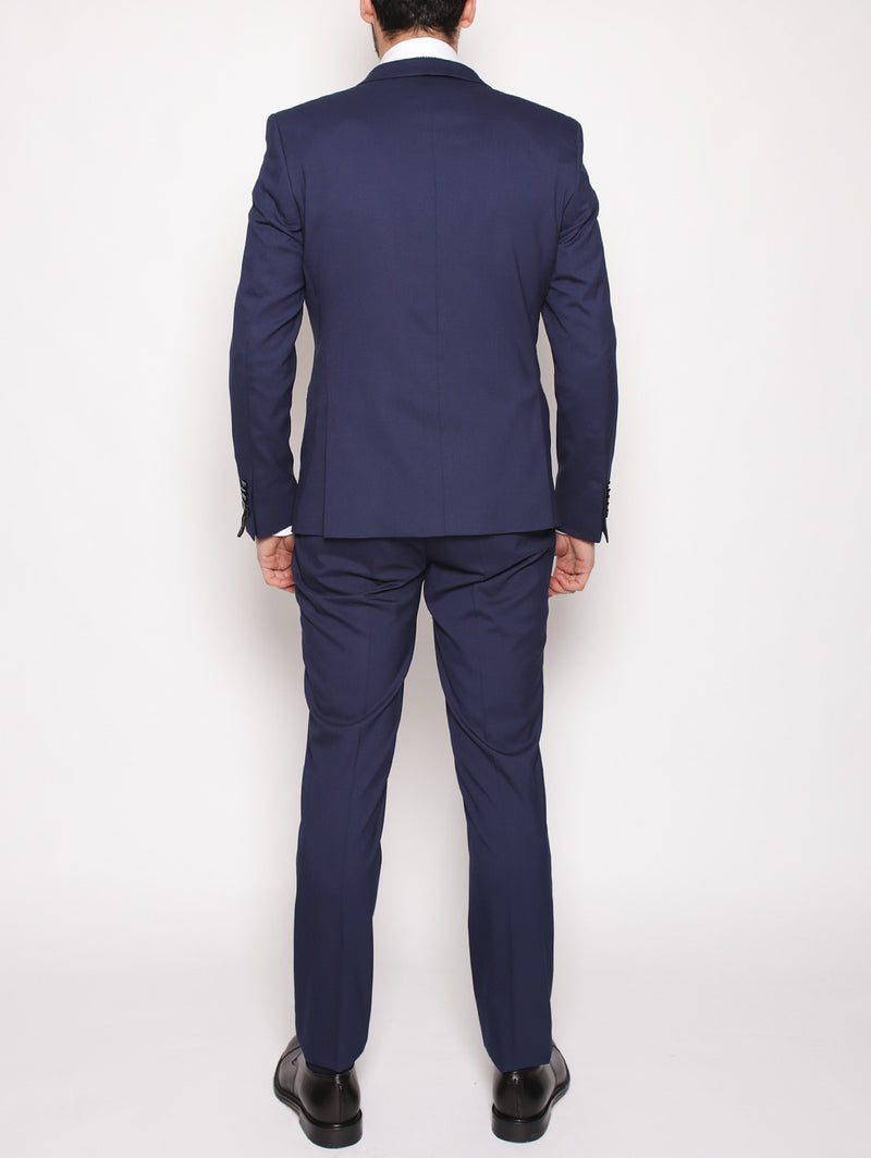 MANUEL RITZ - Abito slim in techno stretch NAVY-Completi-Manuel Ritz-TRYME Shop