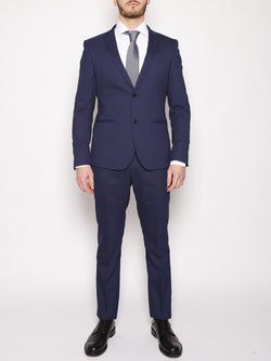 MANUEL RITZ-MANUEL RITZ - Abito slim in techno stretch NAVY-TRYME Shop