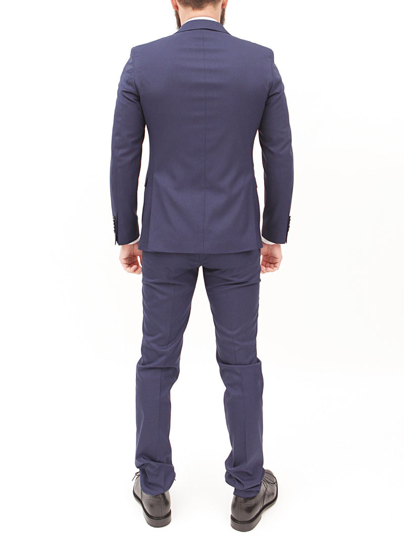 MANUEL RITZ - Abito slim in viscosa techno stretch NAVY-Completi-Manuel Ritz-TRYME Shop