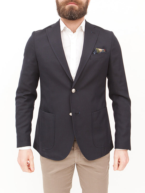 MANUEL RITZ - BLAZER SLIM FIT IN TECHNO VISCOSA NAVY-Giacche-Manuel Ritz-TRYME Shop