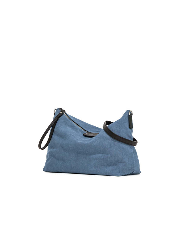 Marcella Navy purse emptyer