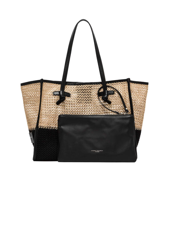 Marcella Black Hemp Shoulder Bag