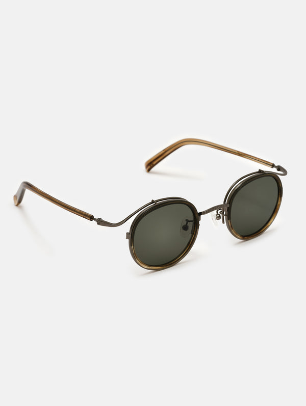 New Town Green/Brown Sunglasses