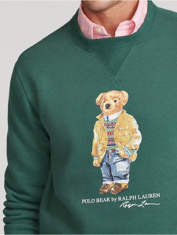 Felpa Girocollo con Polo Bear Forest