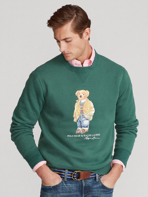 RALPH LAUREN-Felpa Girocollo con Polo Bear - Forest-TRYME Shop