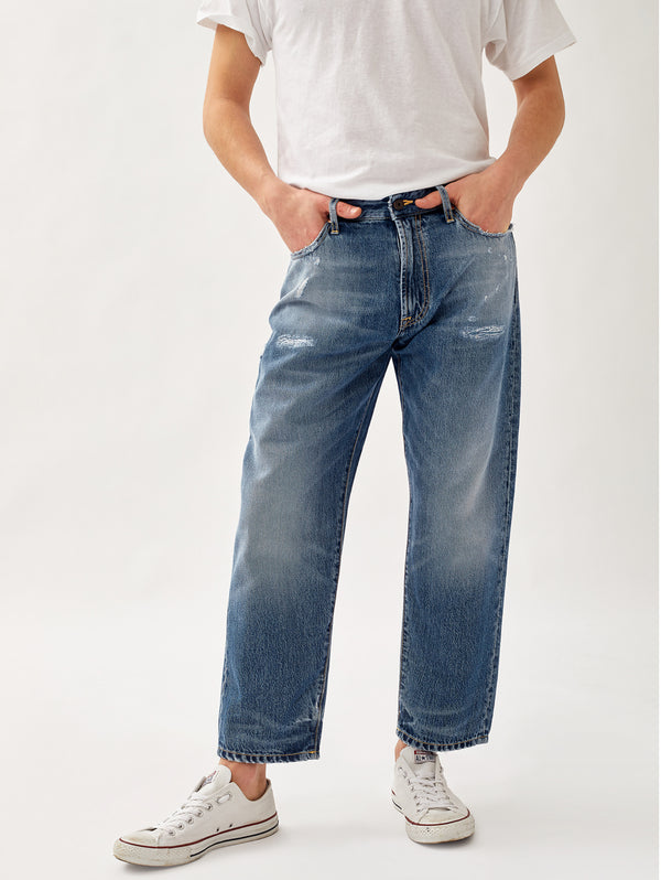 ROY ROGERS-Jeans Largo Carrot Blu-TRYME Shop