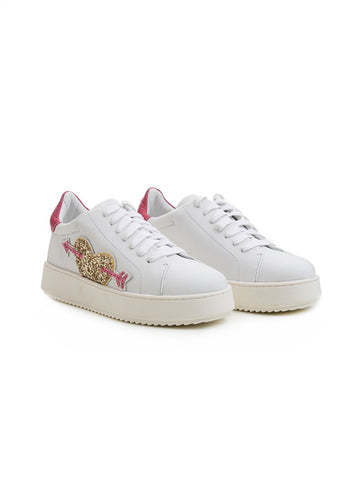 TWIN SET Sneaker in pelle - CA7PF3 Bianco Ottico Trymeshop.it