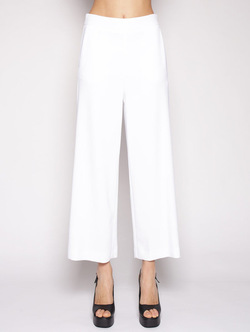 Space Style Concept-SPACE STYLE CONCEPT - Pantaloni palazzo cropped BIANCO-TRYME Shop