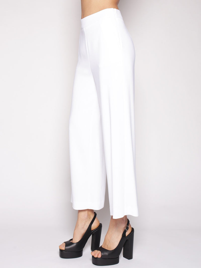 SPACE STYLE CONCEPT - Pantaloni palazzo cropped BIANCO-Pantaloni-Space Style Concept-TRYME Shop