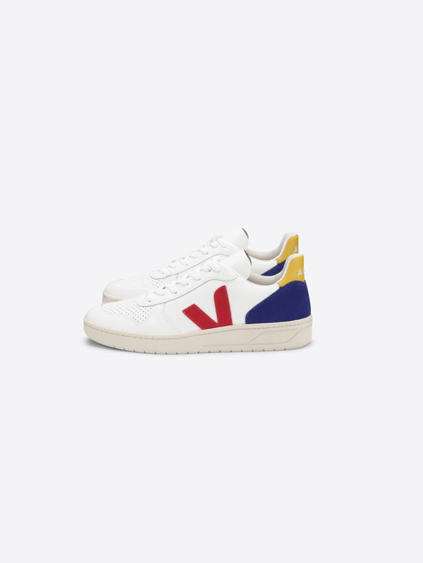 VEJA-Sneakers Sostenibili in Pelle V-10 Multicolor-TRYME Shop