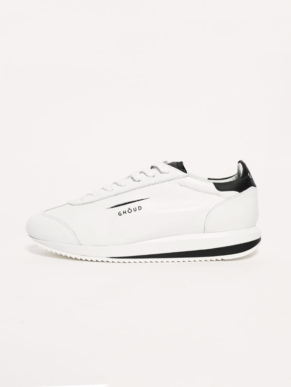 GHOUD-SNEAKERS IN PELLE 45MM Bianco/Nero-TRYME Shop