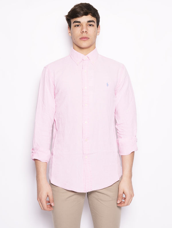 Camicia in lino Slim Fit Rosa-Camicie-RALPH LAUREN-TRYME Shop