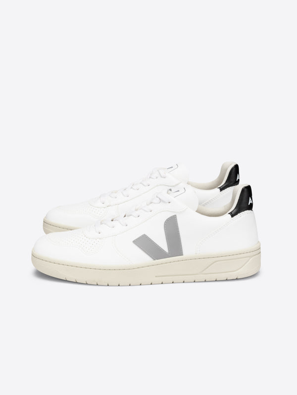 VEJA-Sneakers da Uomo in pelle Sostenibile Grey/Black-TRYME Shop