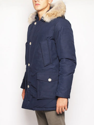 WOOLRICH ARCTIC PARKA DF MELTON BLUE Trymeshop.it