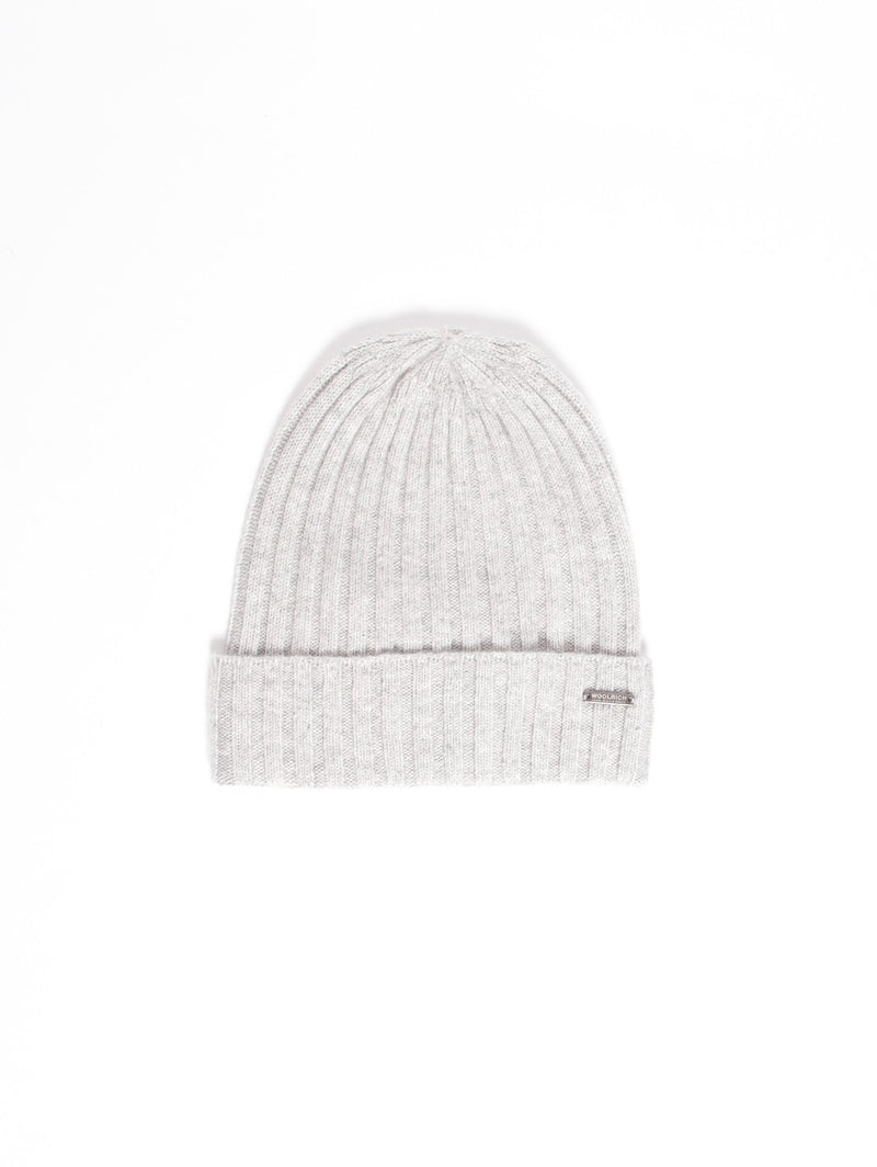 WOOLRICH-Cappello in Cashmere Grigio-TRYME Shop
