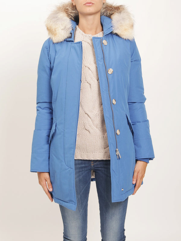 WOOLRICH-Parka Byrd Cloth Blu-TRYME Shop
