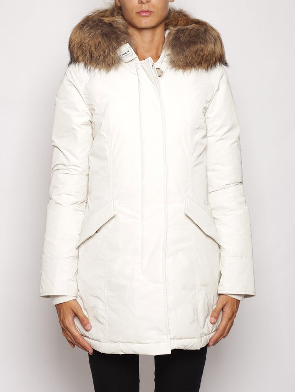 WOOLRICH-Arctic Parka in Shape Memory Bianco-TRYME Shop