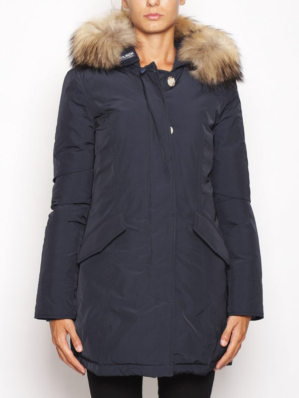 WOOLRICH-Arctic Parka in Shape Memory Blu-TRYME Shop