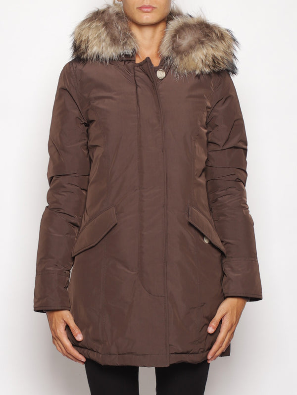WOOLRICH-Arctic Parka in Shape Memory Marrone-TRYME Shop