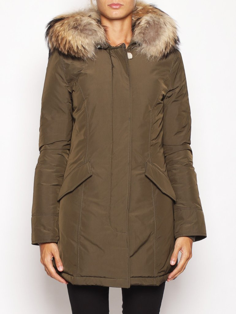 WOOLRICH-Arctic Parka in Shape Memory Verde-TRYME Shop