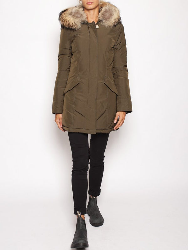 W'S LUXURY ARCTIC PARKA DARK GREEN-Parka-WOOLRICH-TRYME Shop
