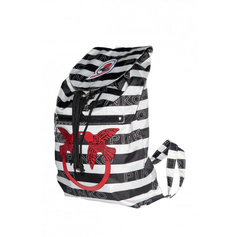 Pinko Zaino Mini Sac in Love Bianco / Nero Trymeshop.it