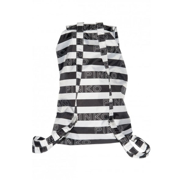 Zaino Mini Sac in Love Bianco / Nero-Borse-Pinko-TRYME Shop