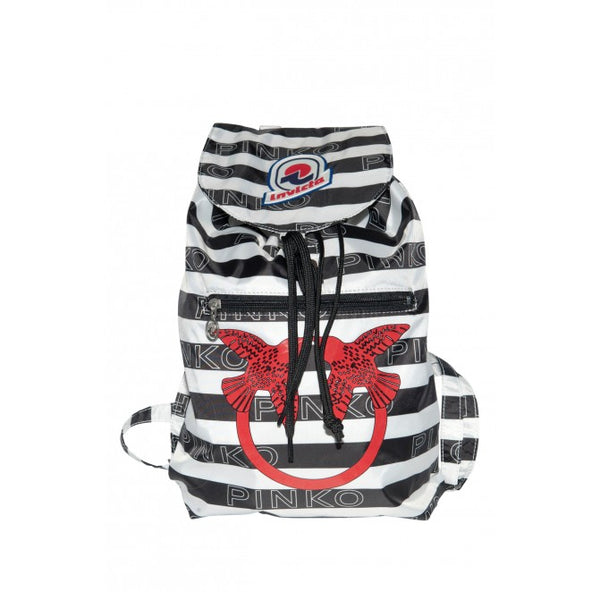 Zaino Mini Sac in Love Bianco / Nero