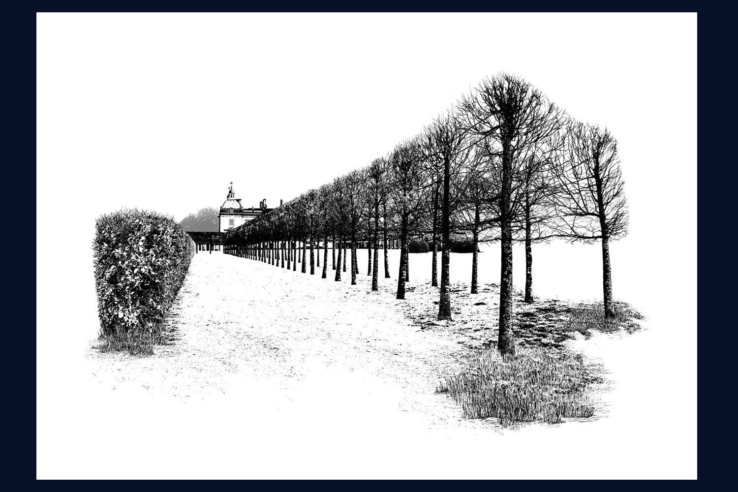 Arboretum Collection: Houghton Hall: East Perspective, Norfolk. Fine Art Print