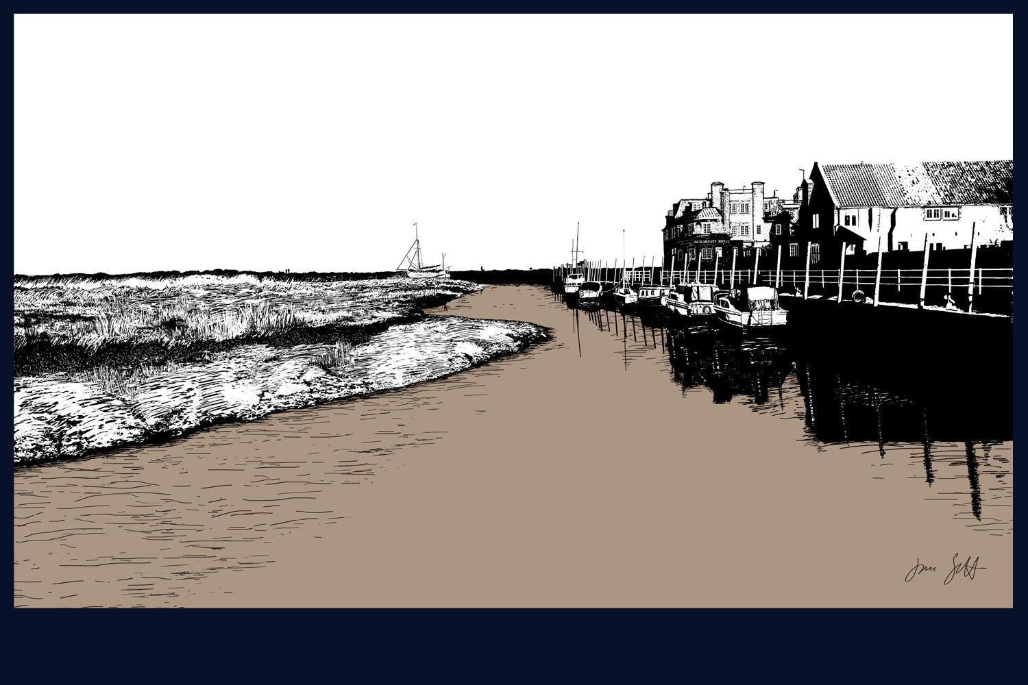 Blakeney, Norfolk. Land Song Fine Art Print - available in 12 colours