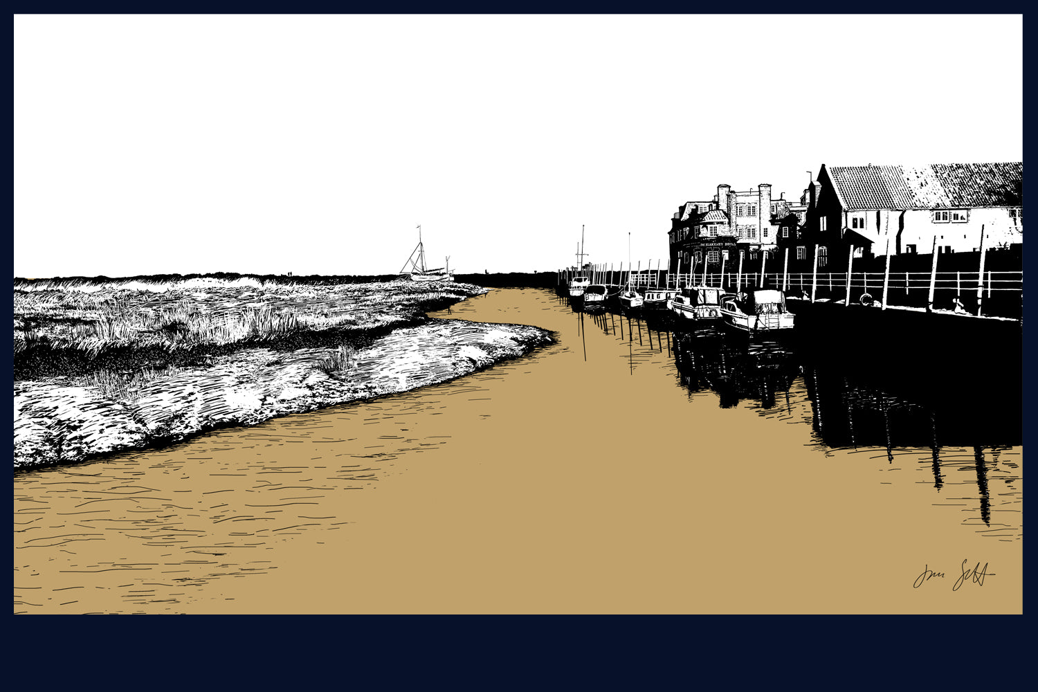 Blakeney, Norfolk. Land Song Fine Art Print - available in 9 colours