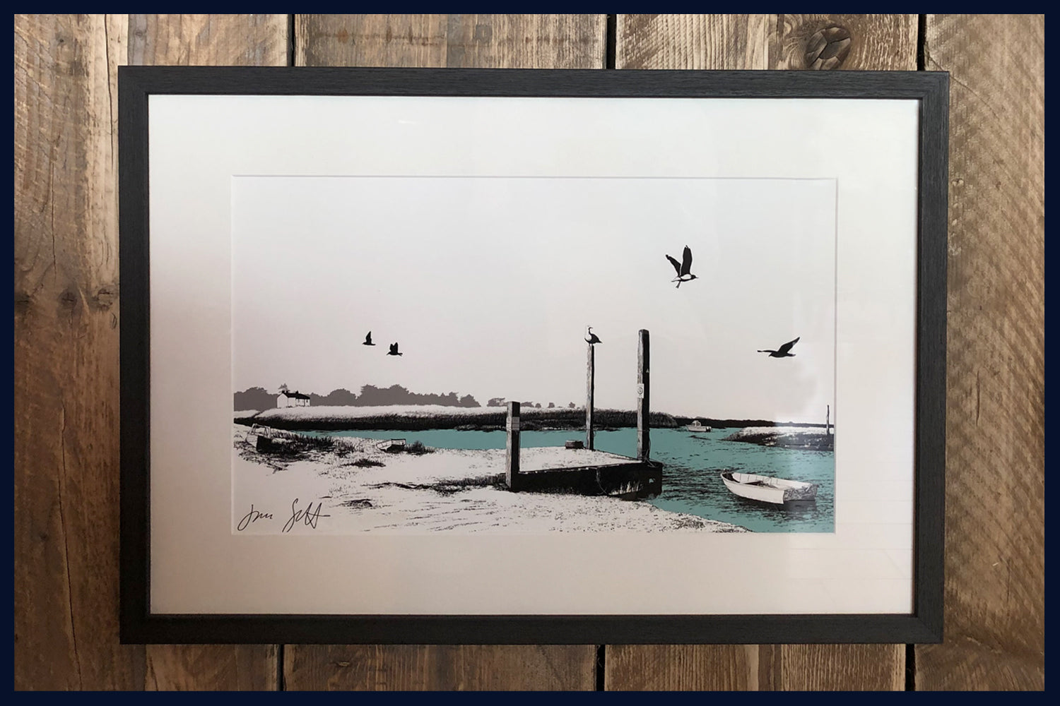 FRAMED Brancaster Staithe, Norfolk. Land Song Fine Art Print - available in 9 colours