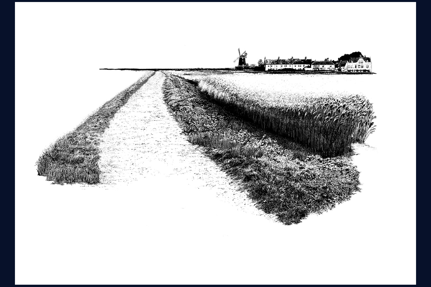 Framed Land Song Limited Edition Fine Art Print: Cley, Norfolk no. 21 of 50