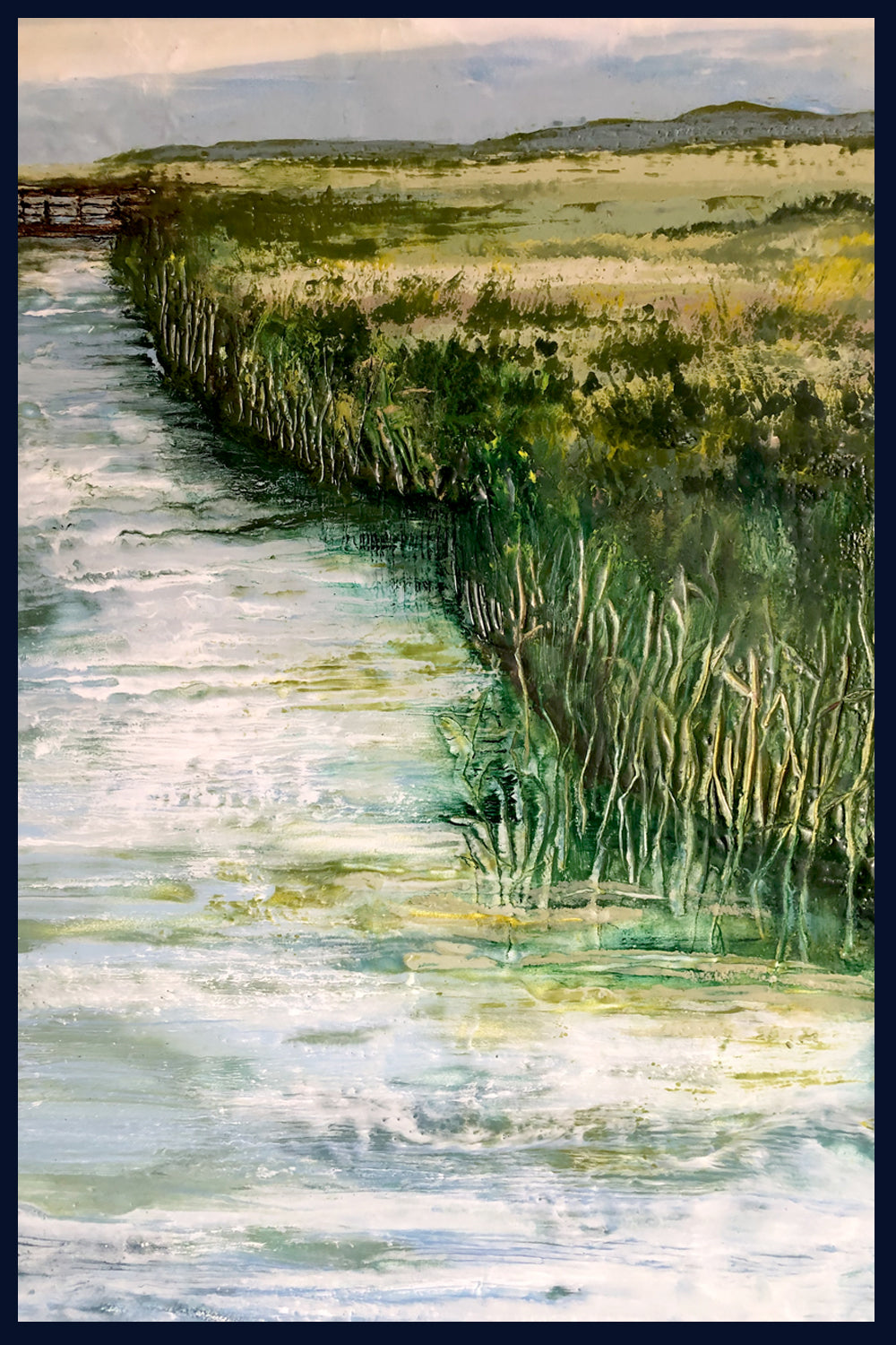 Linear Lands Collection: Summer, Salthouse Marshes, Norfolk. Original Painting