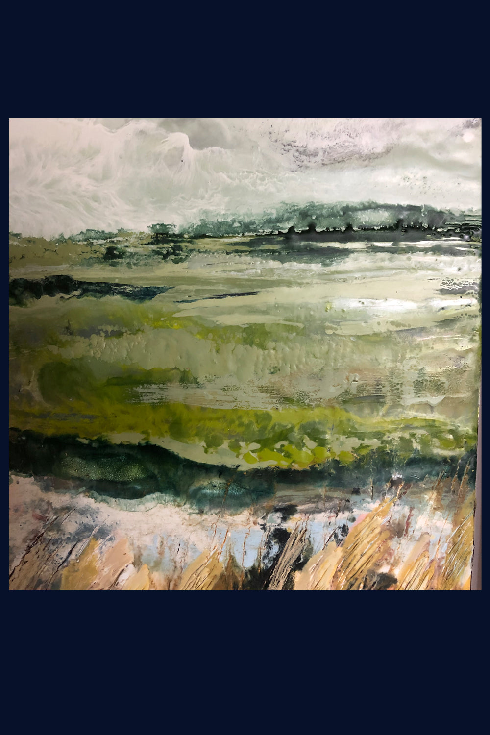 Linear Lands Collection: East View, Burnham Overy Staithe, Norfolk. Original Painting