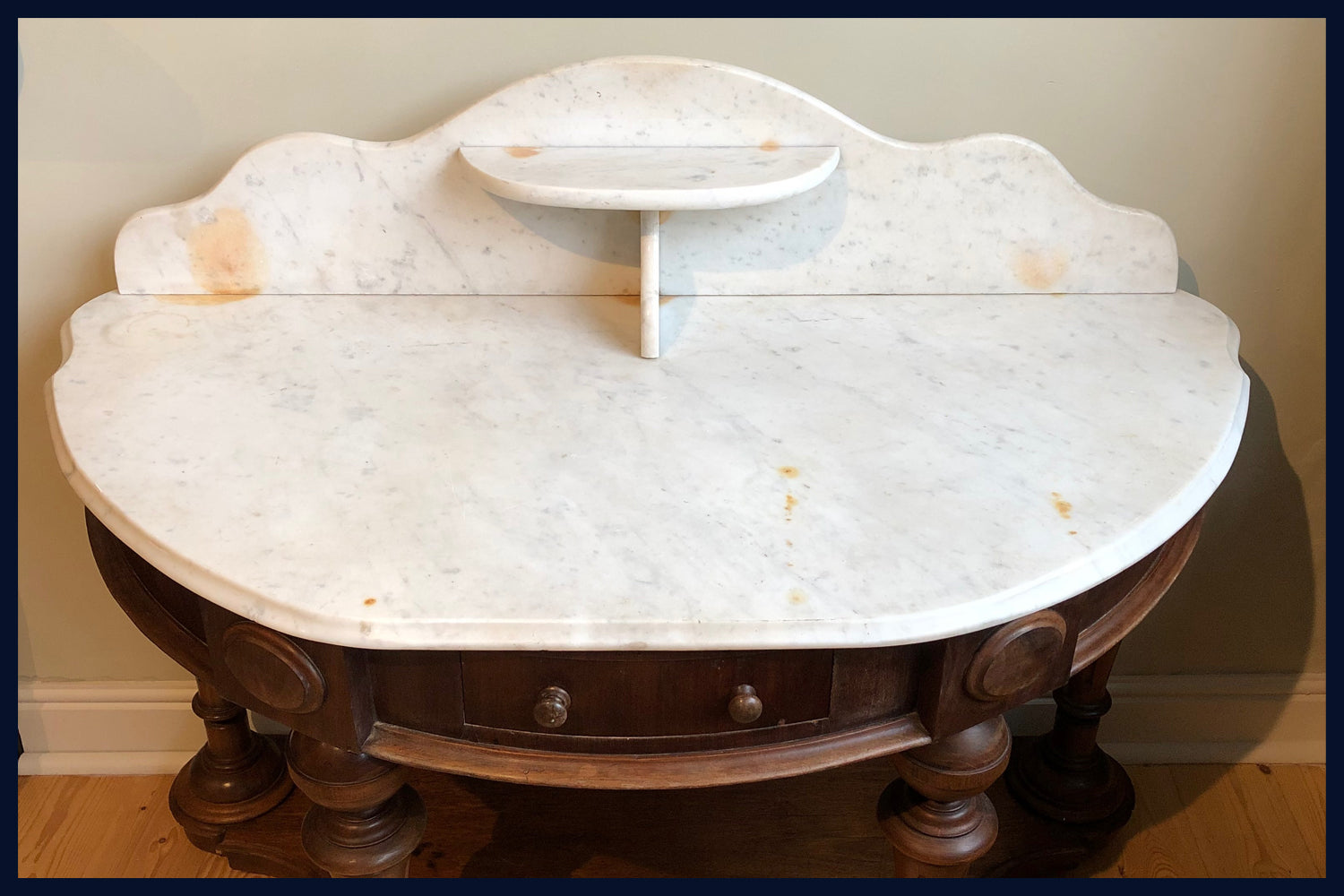 REDUCED Wonderland Furniture Collection: Antique Duchess Stand with Marble Top