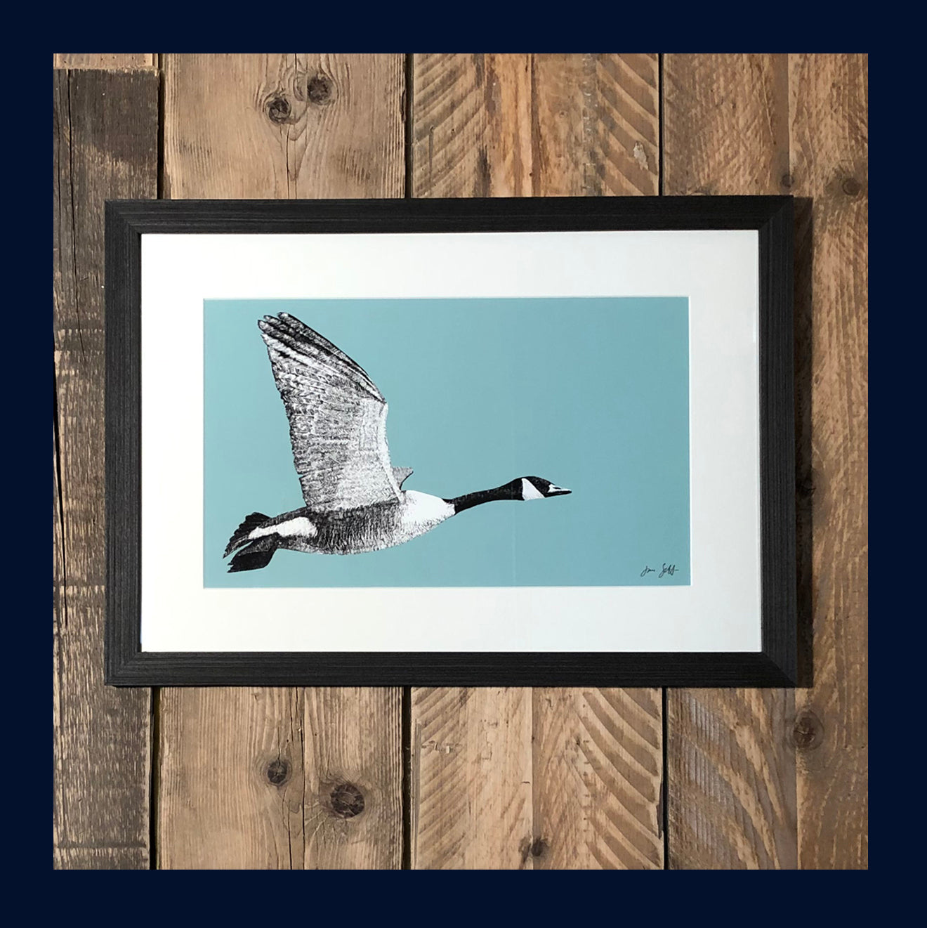 Framed East Flight: Aviary Collection Fine Art Print - available in 9 colours