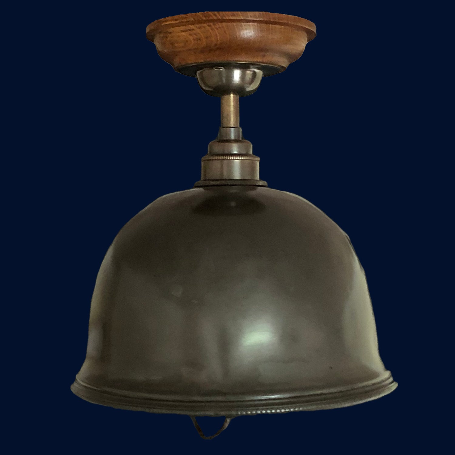 Antique Pewter Banqueting Dome/Food Cloche Short Pendant Light - Grace 255