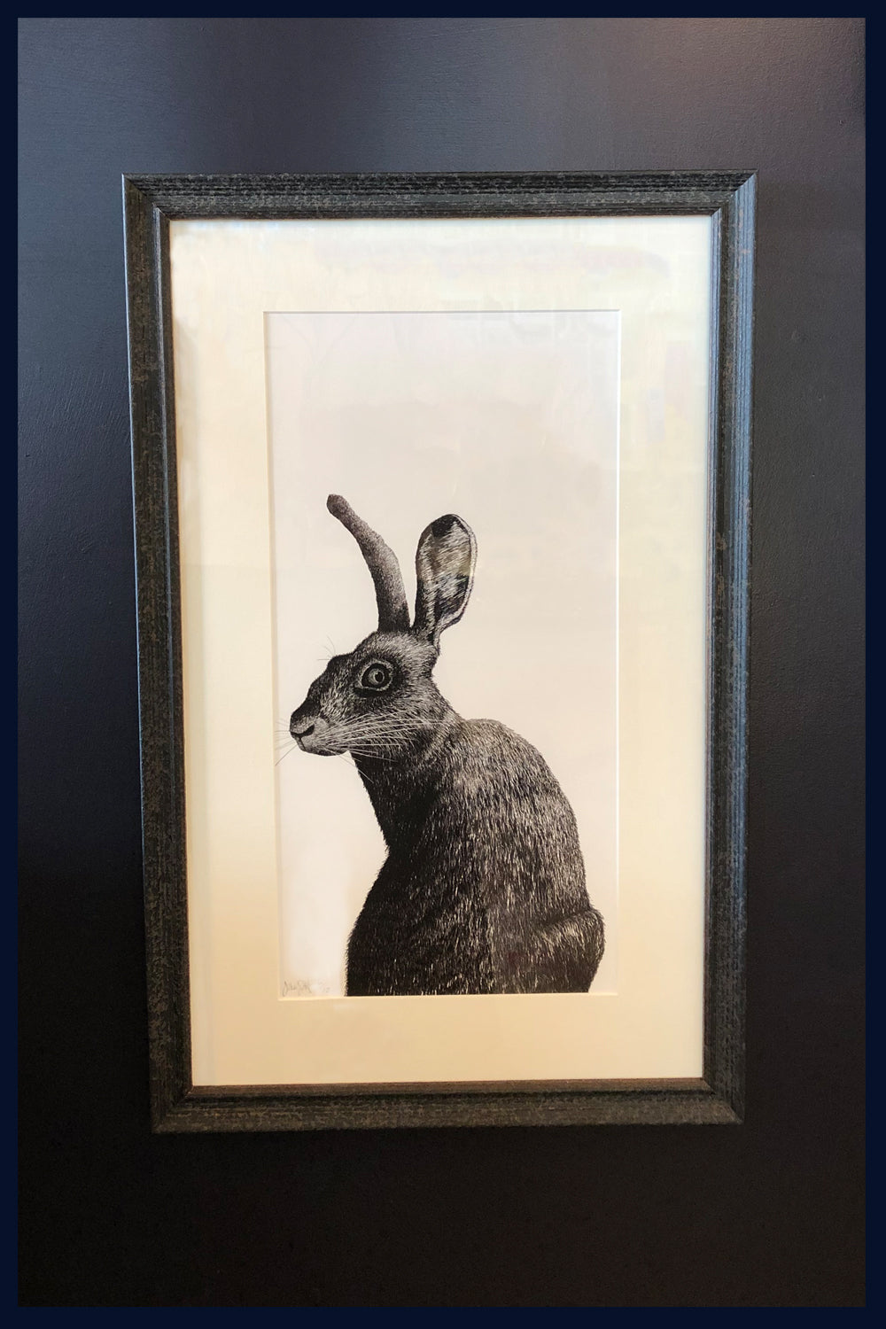 Framed: A Hard Stare: Hare. no.12  Limited Edition of 50 Fine Art Print