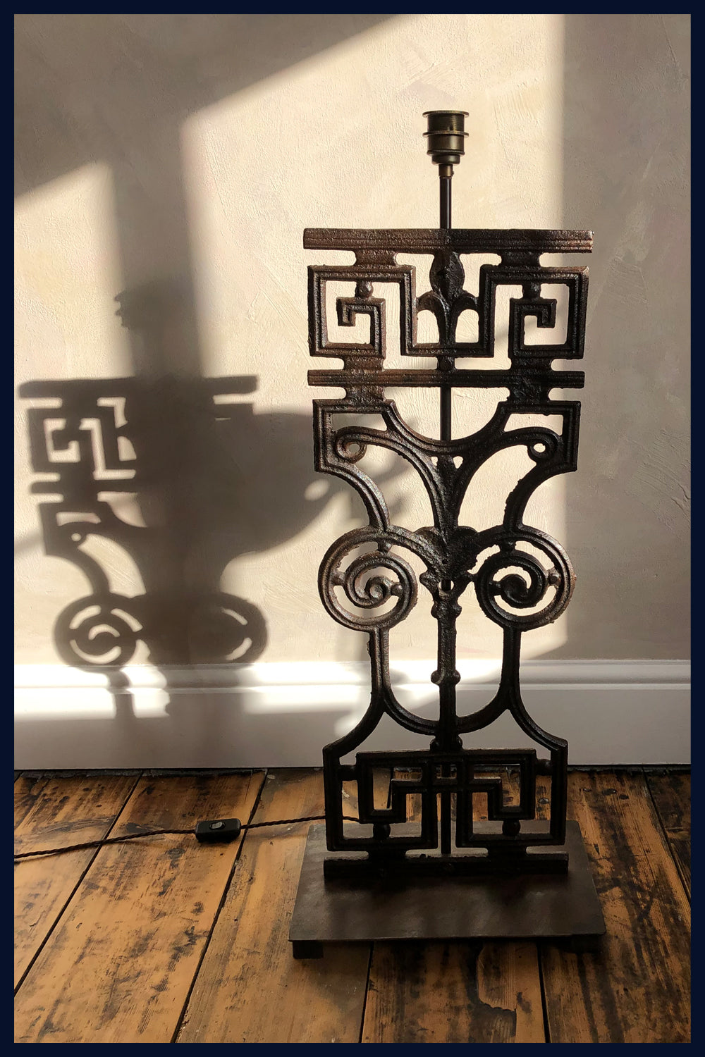 U Collection: Giant Victorian Cast Iron Balustrade Table/Floor Lamp