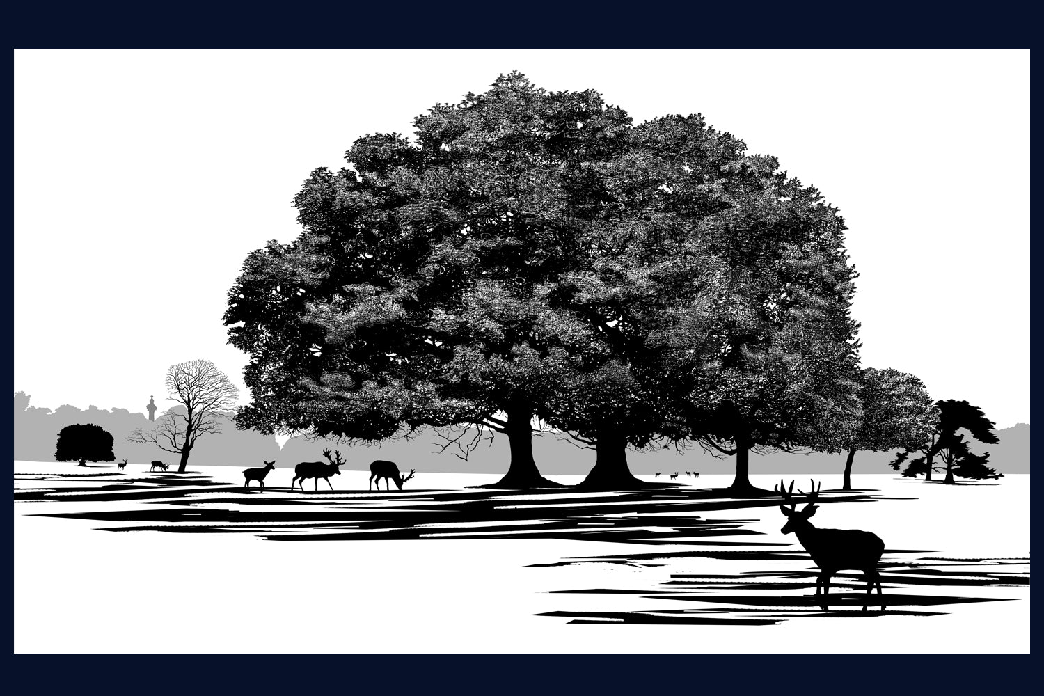 Arboretum Collection 'On the Way to the Monument, Holkham, Norfolk' Limited edition (50) Fine Art Print
