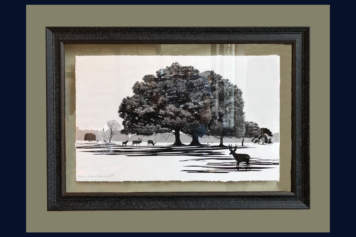 Floated & Framed Arboretum Collection 'On the Way to the Monument, Holkham, Norfolk' Limited Edition 6 of 50 Fine Art Print
