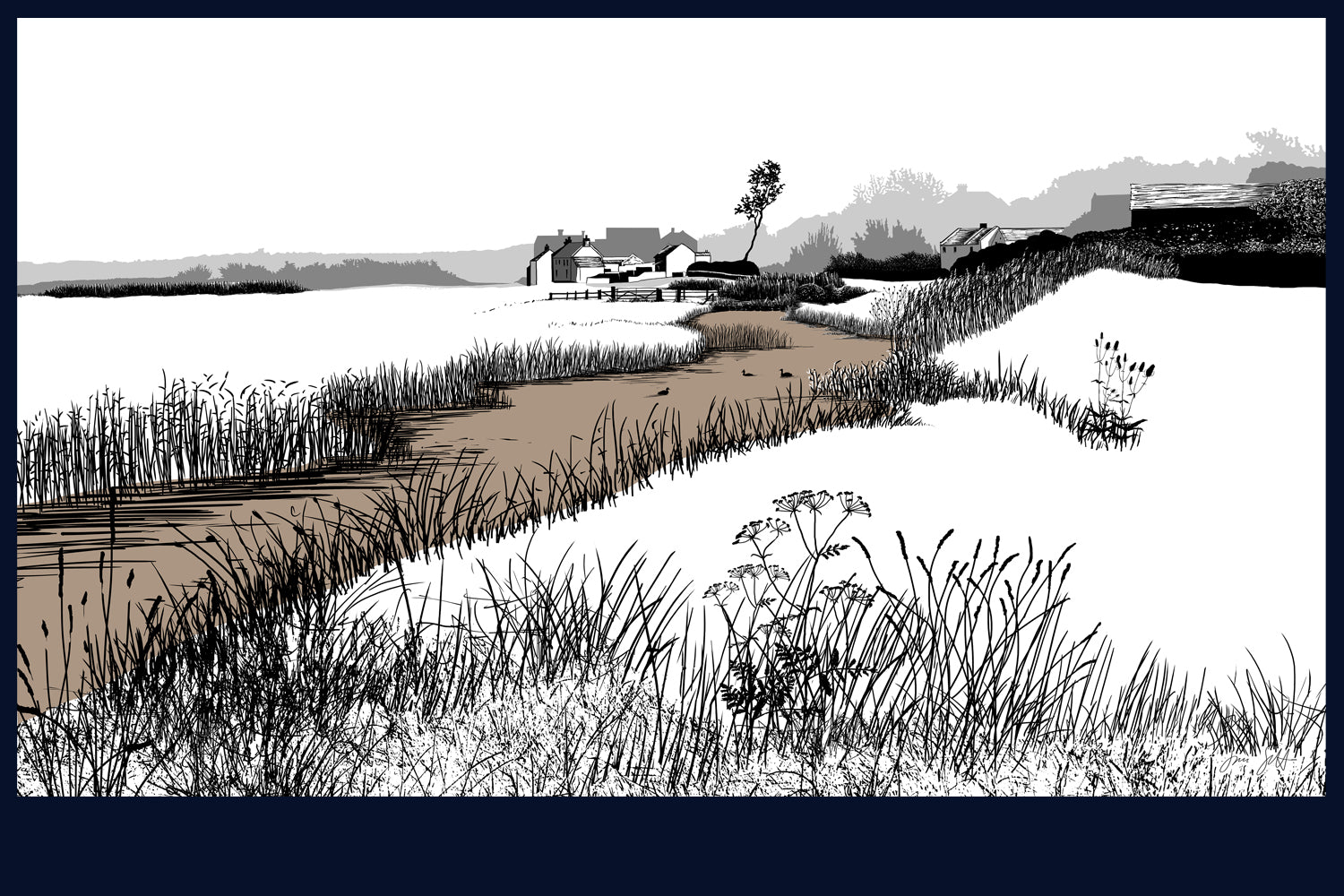 Salthouse, Norfolk. Land Song Fine Art Print - available in 9 colours