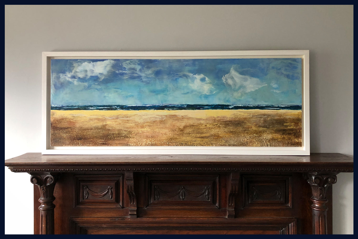 Linear Lands Collection: Serenity, Holkham, Norfolk. Original Oil & Wax Painting