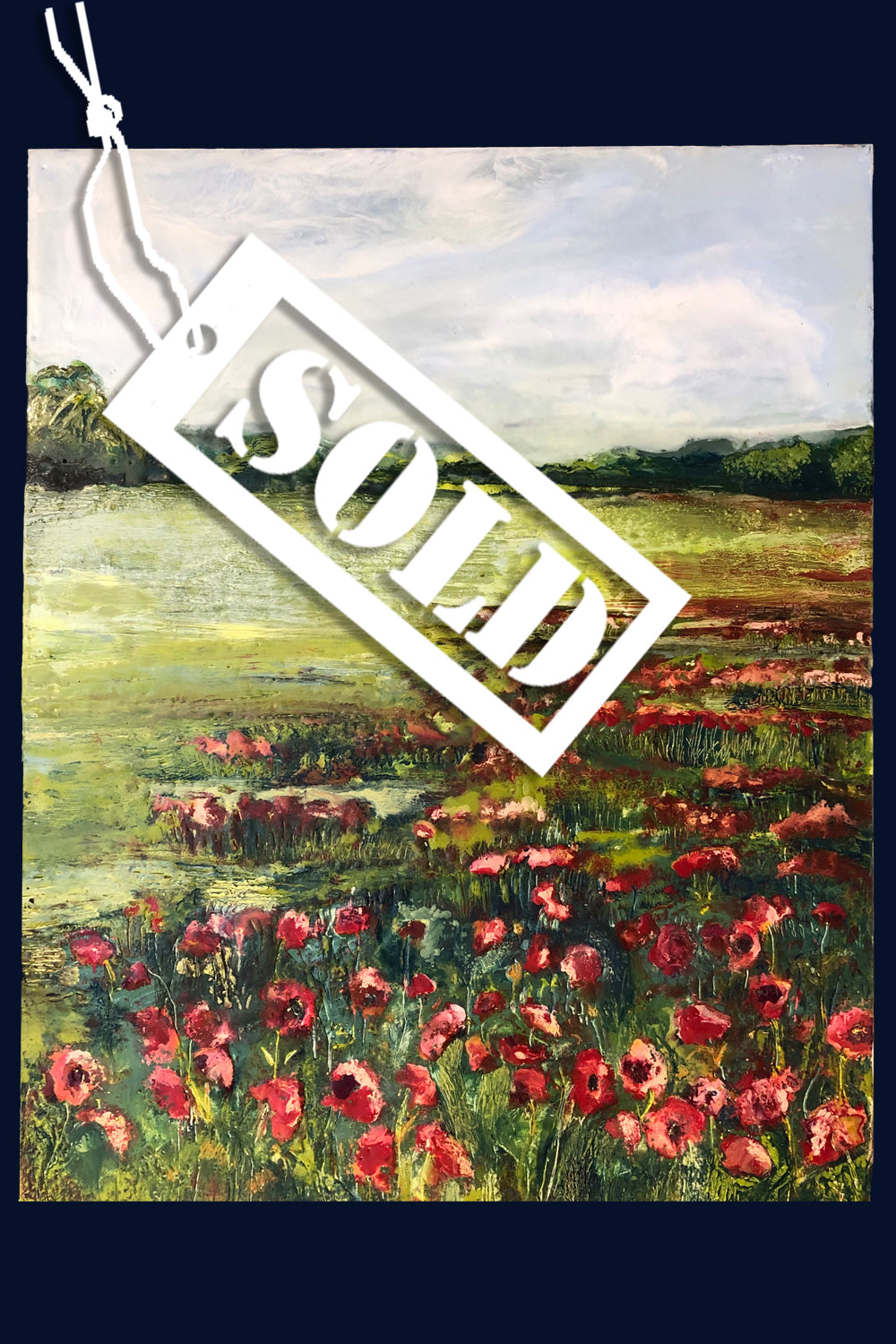Linear Lands Collection: Poppies, Edgefield, Norfolk. Original Painting