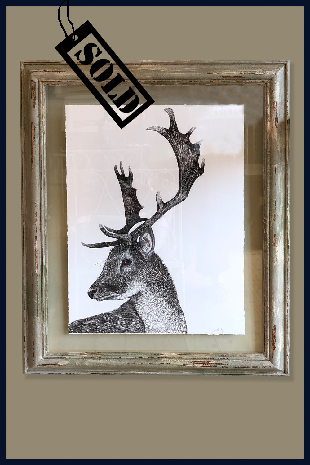 A Hard Stare: Stag. Framed no.6 of 50 Limited Edition Fine Art Print
